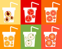 Set Fruit Juice Royalty Free Stock Images
