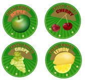 Set of fruit labels Royalty Free Stock Photography