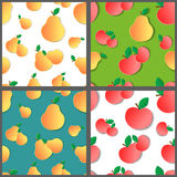 Set Of Fruit Patterns Royalty Free Stock Photography
