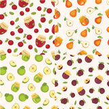Set of fruit patterns Stock Photography