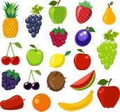 Set of fruit Royalty Free Stock Photo