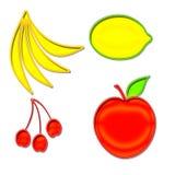 Set of Fruit Shapes Stock Photo