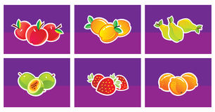 Set of fruit Royalty Free Stock Photography