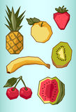 Set of fruit Royalty Free Stock Images