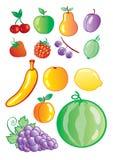 Set of fruit Stock Image