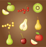 Set of fruit. Royalty Free Stock Photos