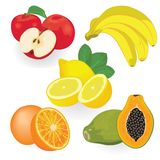 Set of fruit vector illustration. On a white background vector illustration
