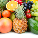 Set fruit and vegetable Royalty Free Stock Photography