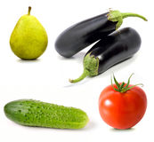 Set of fruit and vegetables Royalty Free Stock Image