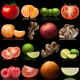 Set from fruit and vegetables Royalty Free Stock Image