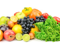 Set fruit and vegetables Stock Photos