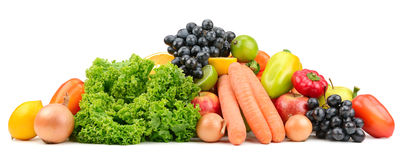 Set fruit and vegetables Royalty Free Stock Photos
