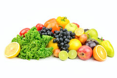 Set fruit and vegetables Stock Photography