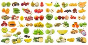Set of fruit on white background Royalty Free Stock Images