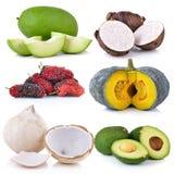 Set of fruit on white Royalty Free Stock Photo