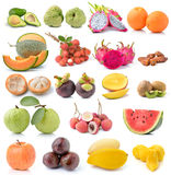 Set of fruit on white background Stock Image