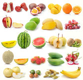 Set of fruit on white background Royalty Free Stock Photo