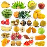 Set of fruit on white background Stock Photo