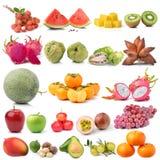 Set of fruit on white background Royalty Free Stock Image
