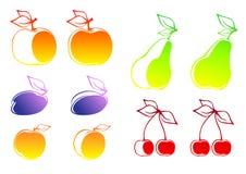 Set of fruits stock illustration