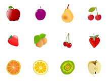 Set of  fruits Stock Photo