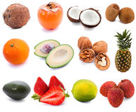 Set of fruits Royalty Free Stock Images