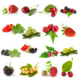Set of fruits stock photos