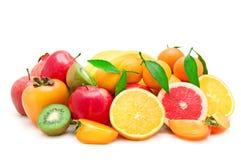 Set of fruits. On white background Royalty Free Stock Photos