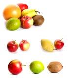 Set of fruits Stock Photos