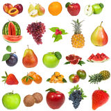 Set with fruits and berries Stock Photos