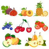 Set of fruits and berries. Healthy eating. Fruits and berries are tasty and healthy Royalty Free Stock Photo
