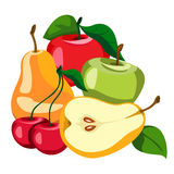 Set of fruits and berries. Healthy eating. Fruits and berries are tasty and healthy Stock Photos