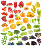 Set with fruits, berries and herbs Royalty Free Stock Images