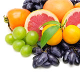 Set of fruits and berries Stock Photo