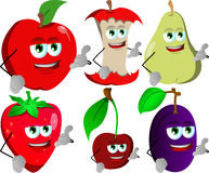 Set of fruits gesturing a call me sign Royalty Free Stock Photo
