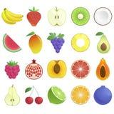 Set of fruits icons Stock Image