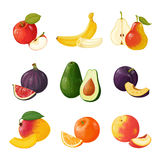 Set of fruits. ICONS Royalty Free Stock Photography