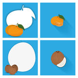 Set Of Fruits Isolated On Background Stock Photos