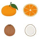 Set Of Fruits Isolated On White Background Stock Photography
