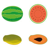 Set Of Fruits Isolated On White Background Stock Image