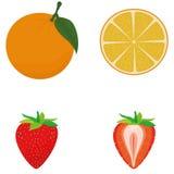 Set Of Fruits Isolated On White Background Stock Photos