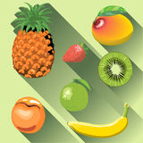 A set of fruits with shadow Stock Photos