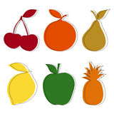 Set of fruits. In a simple style Royalty Free Stock Images