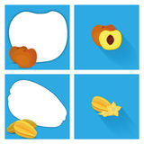 Set Of Fruits With Space For Text. Vector Set Of Fruits With Space For Text Royalty Free Stock Photography