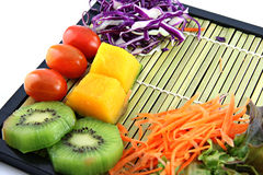 Set of fruits and vegetables for health. Royalty Free Stock Image