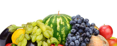 Set of fruits and vegetables Stock Images