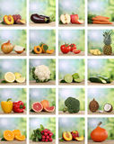 Set of fruits and vegetables Royalty Free Stock Image