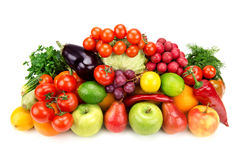Set of fruits and vegetables Royalty Free Stock Photos