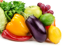 Set of fruits and vegetables Royalty Free Stock Images