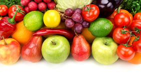 Set of fruits and vegetables Royalty Free Stock Photography
